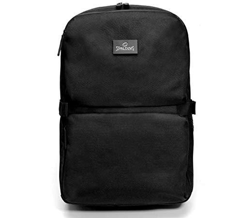 Spalding & Bros. A.G. Zaino Backpack Big Brooklyn Line Porta Pc fino a 15/6' Tasca Porta Tablet Unisex 32X46X16 cm 185623U-nero