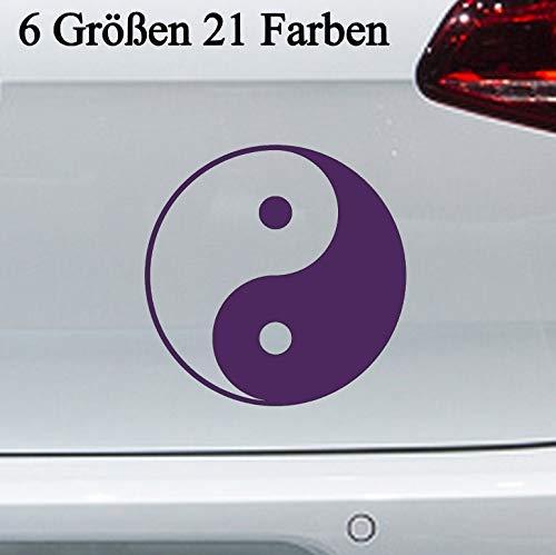 Pegatinas de Yin y Yang, 6 tamaños, símbolo de la medicina china en 6 tamaños y 21 colores