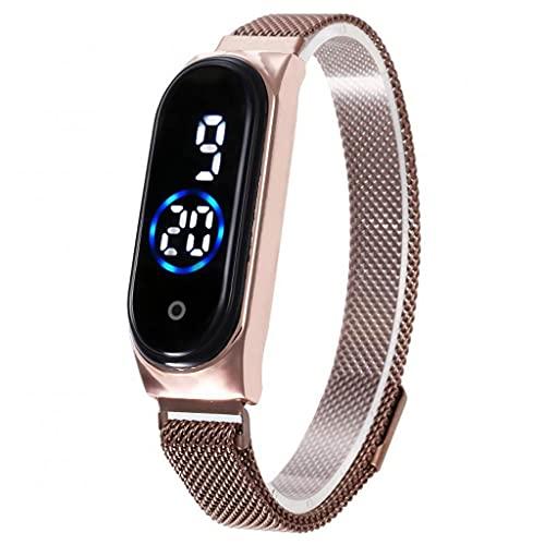 SKTE Reloj LED para Mujer Relojes De Mujer Táctiles Impermeables Relojes De Pulsera Digitales Táctiles De Moda (Color : C)