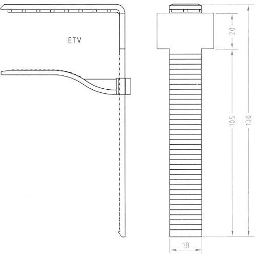 Gastro Uzal Tischklammer Skirting Clips Tischdecke Klammer 25 Stück, Spezialclip Glasklar mit Klettband, Bei Tischplatten bis 11 cm Stärke