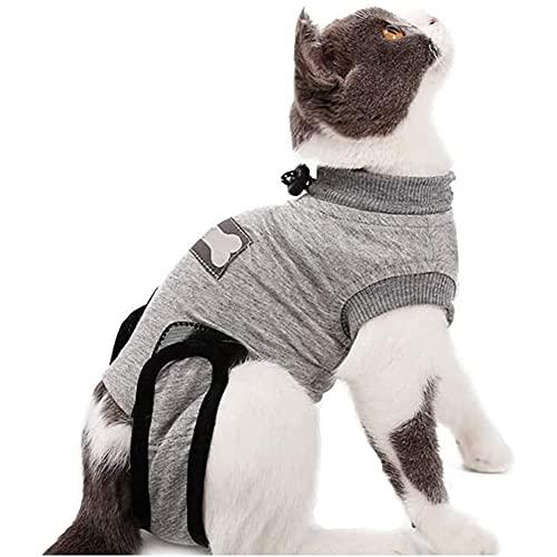 Yuhtech Traje de recuperación, Mascotas Trajes de recuperación quirúrgica Ropa Chaleco de recuperación pequeños (XS-Length-30-35cm)