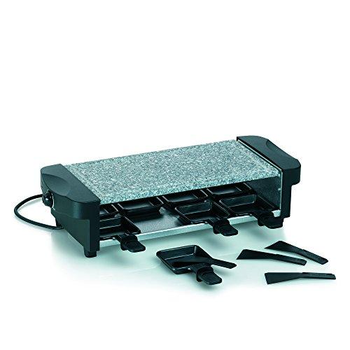 Kela 66663 Raclette mit Granitplatte, Für 8 Personen, 1200 W, 230 V, Ceneri