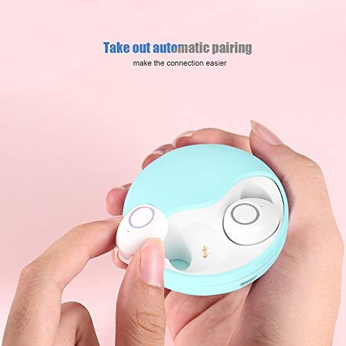 NATRUSS Auriculares Bluetooth Prácticos y prácticos Auriculares para Viajes en casa Dormitorio de la Oficina(Green)