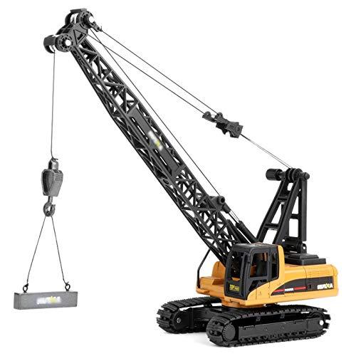 SXET Modelo de Coche de aleación Vehículo de ingeniería 1:50 Excavadora Grande Modelo de simulación de Coche Transportador de Excavadora Modelo de decoración Infantil Juguete Grúa