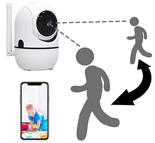 7links IP Camera: WLAN-IP-Überwachungskamera mit Objekt-Tracking & App, HD, 360° (WLAN Kameras)
