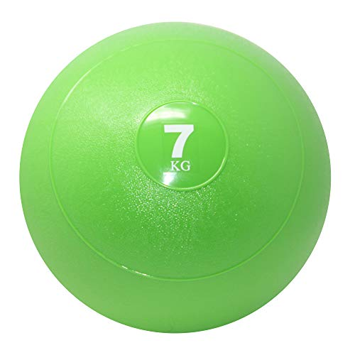 POWRX Slam Ball Palla Medica 7 kg - Ideale per Esercizi di »Functional Fitness«, potenziamento e tonificazione Muscolare - Contenuto in Sabbia ed Effetto Anti-Rimbalzo + PDF Workout (Verde Chiaro)
