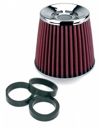 Preisvergleich Produktbild Simoni Racing FSR / UD Single Cone Filter,  Chrome Cap,  Red Cotton