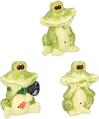 Lifetime 1x Frosch mit Bewegungsmelder Sensor Deko-Frosch Dekofrosch Gartendeko Garten Terrassen Dekofigur
