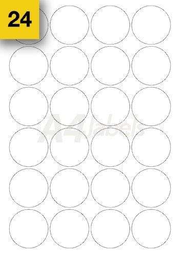 Etiquetas adhesivas A4 Labels.com Ltd para impresora, 480 unidades, formato redondo de 45 mm de diámetro y color blanco