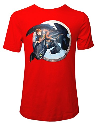 DreamWorks Dragons kinderen T-shirt stunt flyer, rood