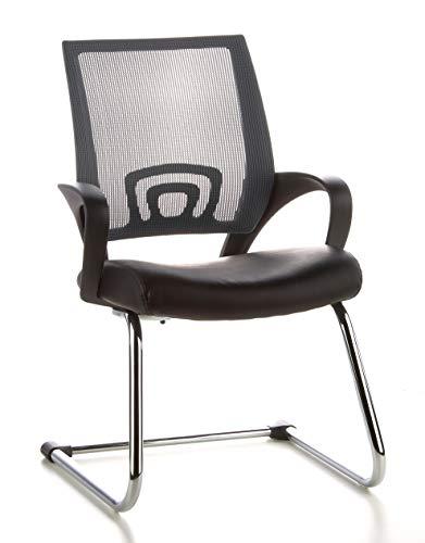 HJH Office 650410 - Silla de oficina con respaldo de red, color gris y negro