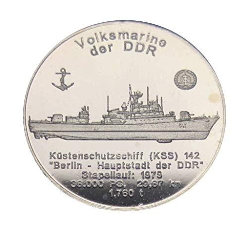 Silber 1/2 Oz Medaille, KSS 142 Volksmarine DDR Berlin Hauptstadt, Schiff, Geschenk