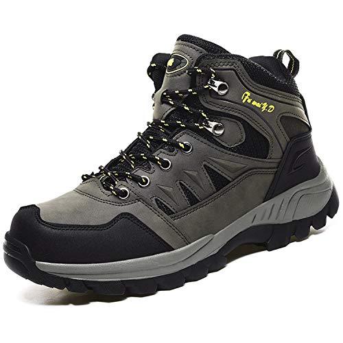 Topwolve Zapatillas de Senderismo para Hombre Zapatillas de Trekking Botas de Montaña Antideslizantes Al Aire Libre Zapatos de Deporte,Ejercito Verde,43 EU