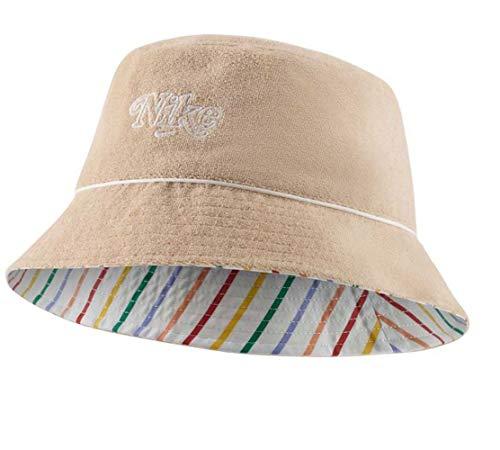 Nike NSW Retro Bucket Damenhut aus beigem Stoff CU7260-287
