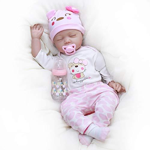 Kaydora Reborn Baby Doll Girl, 22 inch Soft Weighted Body, Cute Lifelike Handmade Silicone Sleeping Doll