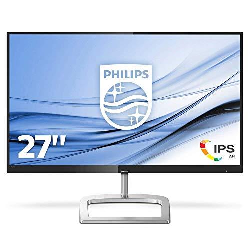 Philips 276E9QSB Monitor 27  LED IPS FHD, UltraWide Color, 4 ms, 3 Side Frameless, Low Blue Mode, Flicker Free, DVI, VGA, VESA, Nero