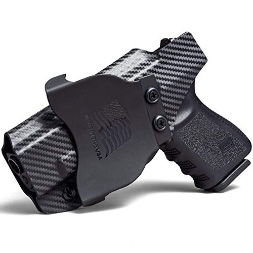 Concealment Express OWB Paddle KYDEX Holster fits Kahr K9 | Right | Carbon Fiber Black