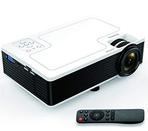 """Movie Projector BRILENS Full HD 1080P Support Mini Projector LED Portable Home Theater Indoor Outdoor Compatible with HDMI USB VGA AV TV TF 30,000 Hours for Cinema Laptop PS5 Game 300"""" Image Dispay"""