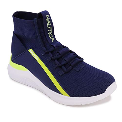 Nautica Mens High-Top Sock Lace-Up Sneaker with Extra Ankle...