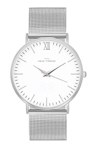 New Trend - Love for Accessories Damen Uhr analog Quarzwerk mit Edelstahl-Armband XQ-0JRO-3L3J