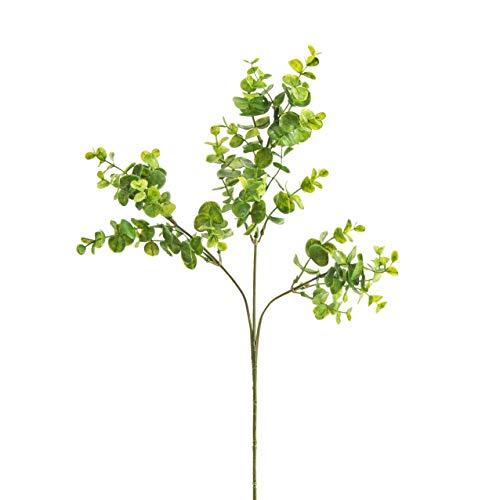 artplants.de Künstlicher Eukalyptuszweig, grün, 63cm - Kunst Zweig - Deko Zweig