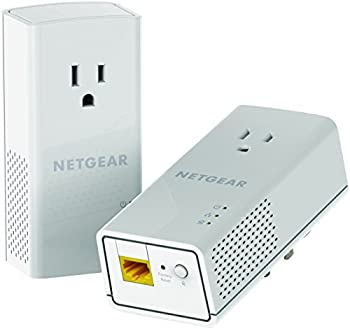 NETGEAR Powerline adapter Kit 1200 Mbps Wall-plug 1.2 Gigabit Ethernet Ports with Passthrough + Extra Outlet  PLP1200-100PAS
