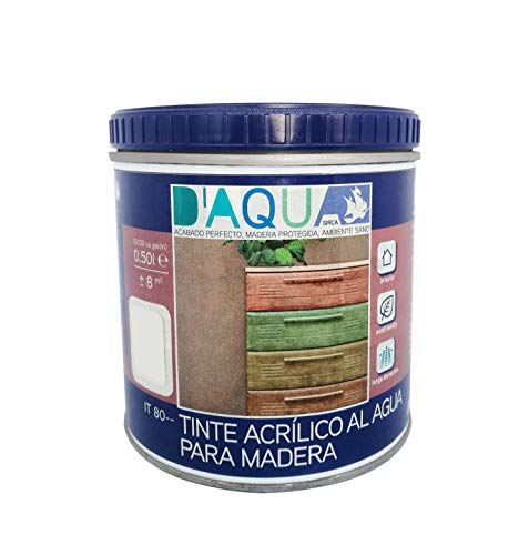Tinte Acrílico Al Agua Para Madera 0,50l (Azul Provenza IT 8018)