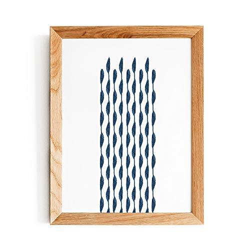 Ced454sy Gestreepte muur kunst print blauwe aquarel streep schilderij abstracte indigo printable poster moderne home decor cadeau teken