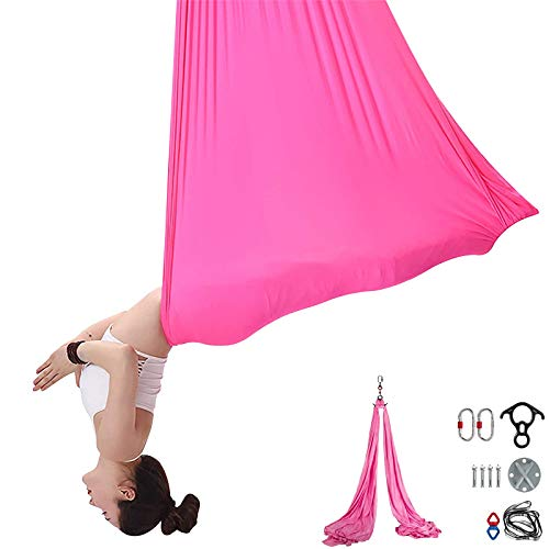 Lowest Price! Happybuy Aerial Yoga Hammock Kit,11YD/9.2FT Yoga Swing Set,Antigravity Ceiling Hanging...