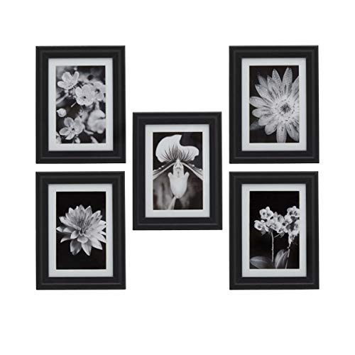 MELANNCO 5261230 MDF Wall Frames, Set of 5, Black