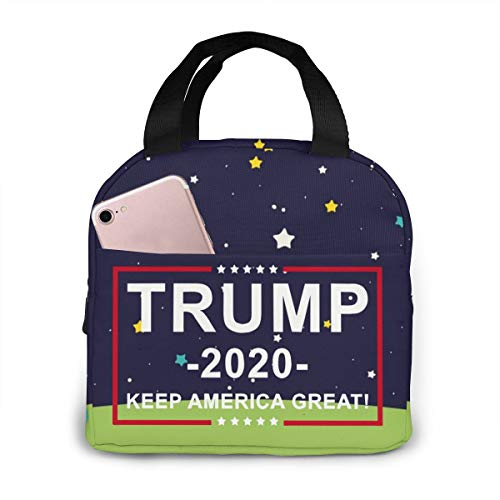 TRUMP 2020 Lunch Bag Cooler Bag Women Tote Bag Insulated Lunch Box Water-resistant Thermal Soft Liner Lunch Container for Picnic Travel Boating Beach Fishing Work