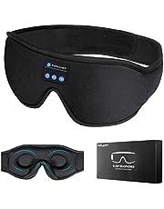 Sovhörlurar Bluetooth Trådlös Ögonmask TOPLANET med Inbyggd HD-Högtalare, Svart