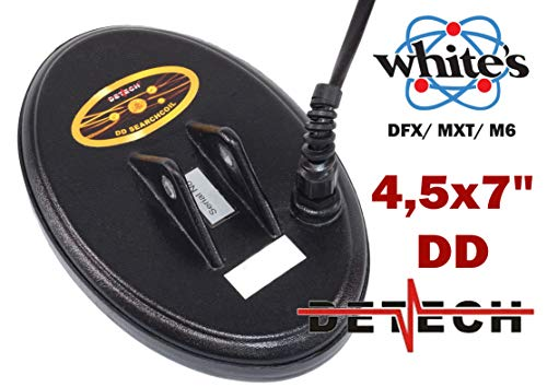 Bobina para detectores Whites DFX, MXT, M6 (Marca Detech) con Cubierta de Bobina incluida