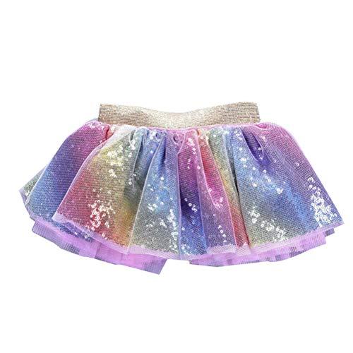 Mode Baby Prinses Jurk Pailletten Tutu Rok Feestdans Tutu Jurk Mooie Kinderjurk Meisjes Verjaardag Rok (Maat M, Fit voor 2-5 Jaar Oud)