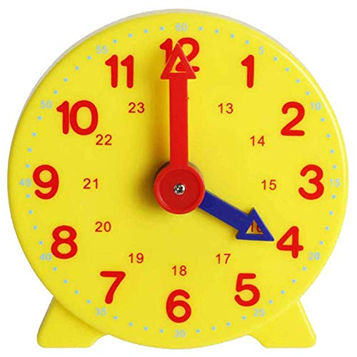 Xuey Kids Time Interactive Toy - Children Educational Clock, Adjustable Time Learning Clock Model for Kids Learning Clock Early Education Demonstration Clock