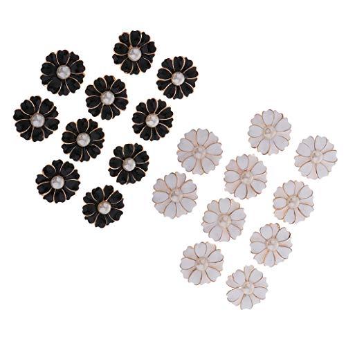 F Fityle 20x Flatback Pearl Flower Manualidades Mixtas para Hacer Tarjetas de álbum de Recortes Diy
