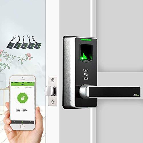 ZKTeco ML10B-ID serrure de porte biométrique d'empreinte digitale et RFID sans clé, compatible...
