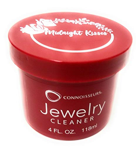 CONNOISSEURS Jewelry Cleaner for Diamond, Platinum, Gold & Precious Stones with polishing Cloth, Brush & dip Tray(4 Fl.Oz Jewelry Cleaner & Cloth)