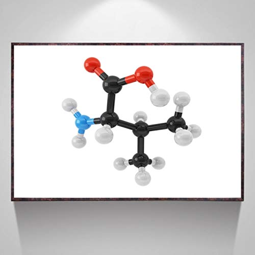 N/A Canvas Painting 3D Printing Amino Acid Valine Canvas Poster Art Print Wall Pictures For Living Room No Framehome Decoration