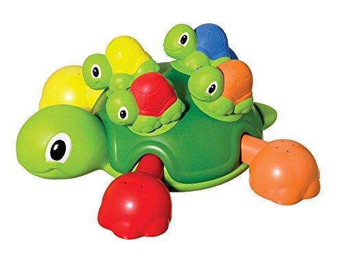TOMY T72097 Schildkrötenfamilie, Bunter Bade- und Lernspaß für Badewanne, Pool und Schwimmbad, Badewannenspielzeug, Wasserspielzeug Badewanne, Babyspielzeug, Geschenke zur Geburt, Ab 12 Monaten