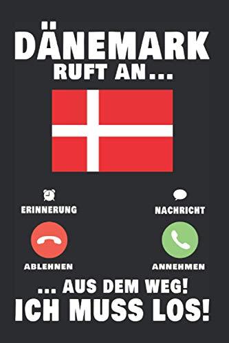 Dänemark Notizbuch: Dänemark Urlaub Anruf Fanö Reise Telefon Geschenk / 6x9 Zoll / 120 gepunktete Seiten Seiten