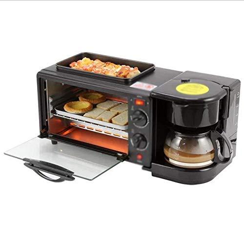tostapane 5 in uno YPJKHL Macchina per la Colazione Multifunzione per la casa Tre-in-Uno caffè Tostapane Mini Forno Elettrico Frittata Commerciale