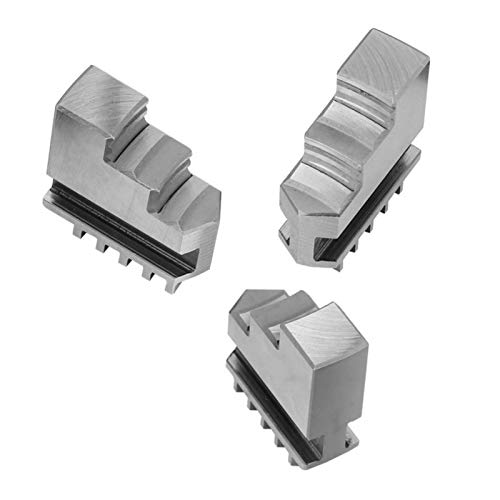 3 pcs Inside or Outside Jaw Chuck, K11-80 Three-Jaws Self-Centering Chuck 20CrMnTi Steel Metal Lathe Chuck Jaws for Metal Processing & Extend the Machine Functions
