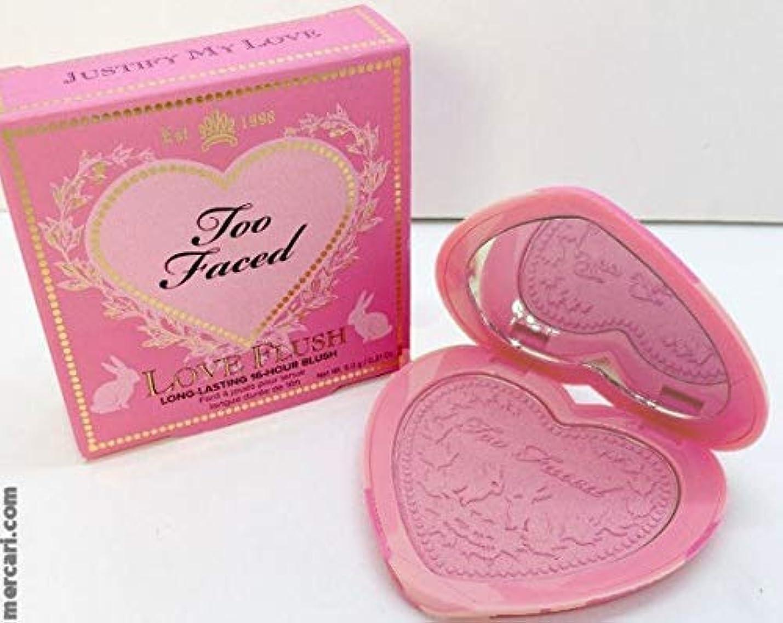 捨てる採用する行うToo Faced Love Flush Blush - Justify My Love 6.0 g/.21 oz [並行輸入品]
