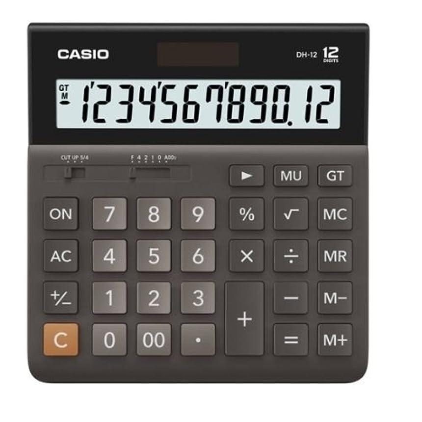 変化するバルーンむしろCasio DH-12-BK 電卓デスクトップ型 DH12 ブラック [並行輸入品]