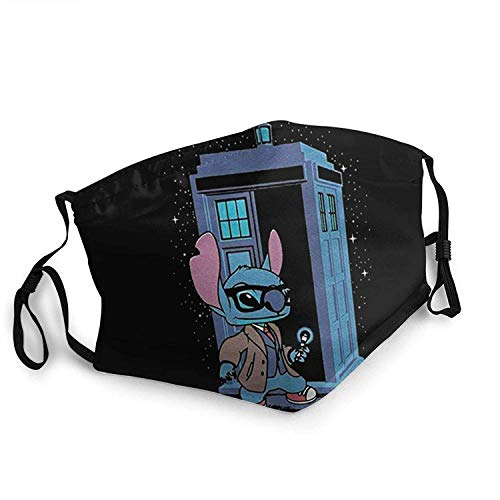 YeeATZ Dr Stich Art,Dr Who Lilo and Stitch Combo bandanas bucal anti UV lavable para líquidos