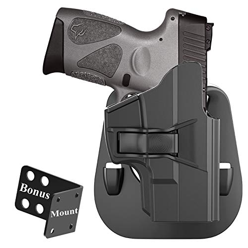 G2C Holster for Taurus PT111 Millennium G2, Taurus G2C/G3/G3C/PT132/PT138/PT140/PT745(Not Pro), Polymer Belt Carry Holster, OWB Paddle Holster, Tactical Gun Holster, Adjustable Cant - Right Handed