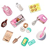 Glitter Girls Dolls by Battat – Donut Baking Set – Play Food, Mixer, & Kitchen Accessories – 14-inch Doll Cooking Set for Kids Ages 3 and Up – Children's Toys