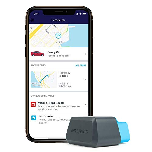 Automatic Connected Car Assistant New AUT-450C, LTE OBD II Adapter and App, Trip Tracking, Severe Crash Alert, Engine Diagnostics, Realtime Car Tracking, Roadside Assistance and Alexa Skill