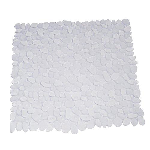 MSV Duschmatte Badematte Duscheinlage antibakteriell rutschfest mit Saugnäpfen - Transparent - ca. 53 x 53 cm